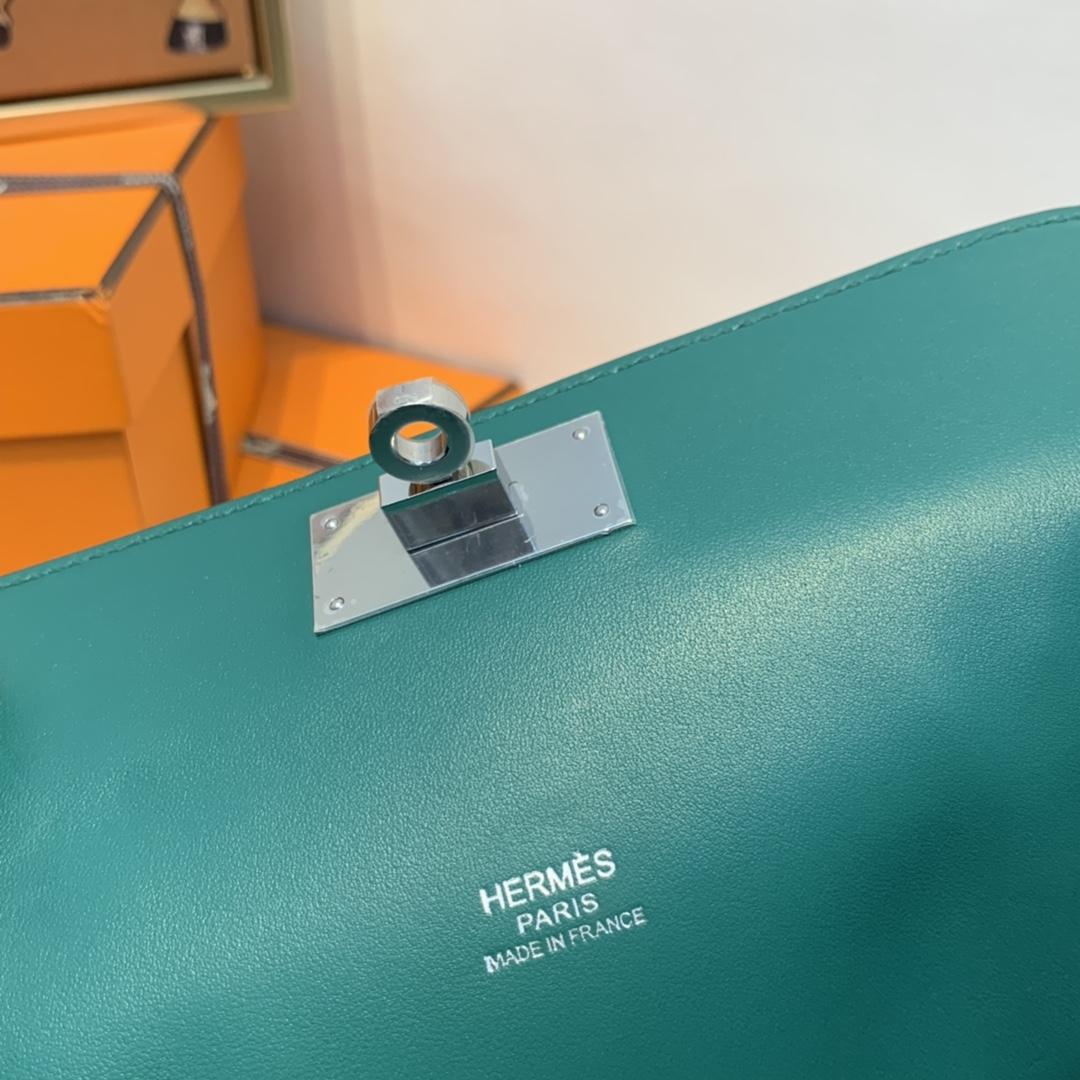 爱马仕HERMES 订单出货 20toobox   swift 孔雀绿  银扣   正品开版!