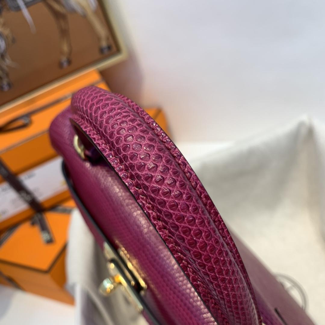 爱马仕 kelly 25cm 西班牙牙lizard蜥蜴皮  P9海葵紫  绝美小极品 现货一枚