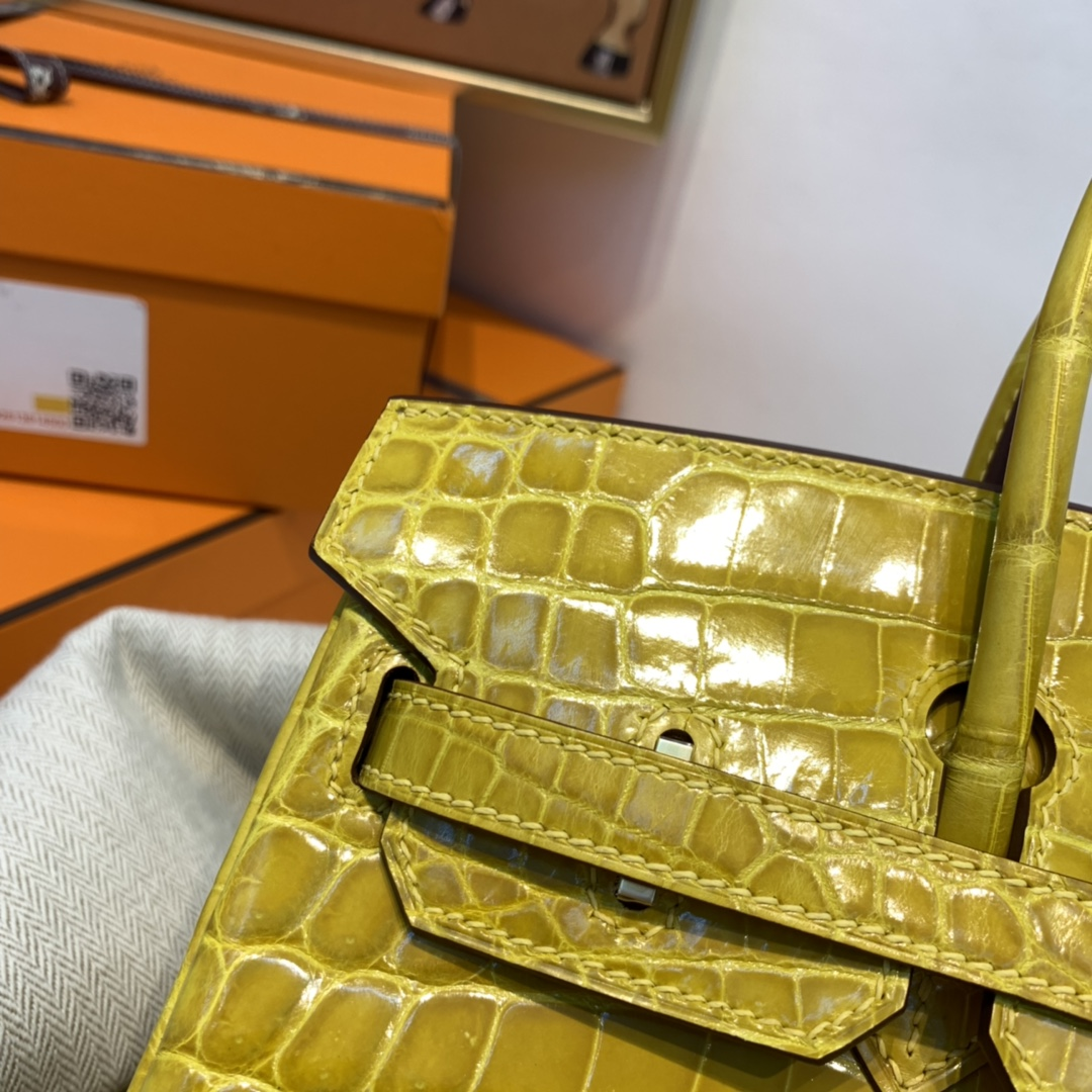 HERMES 爱马仕 订单  25 birkin  Nilo 尼罗 两点  9D 琥珀黄 金扣
