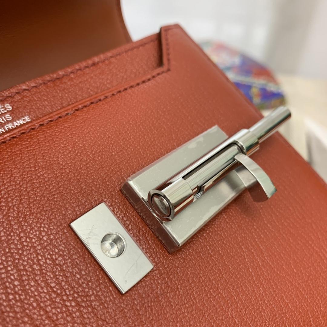 HERMES stock~现货 mini verrou 插销包限量款编织织带  chevre mysore山羊皮 6c古铜色 复古风