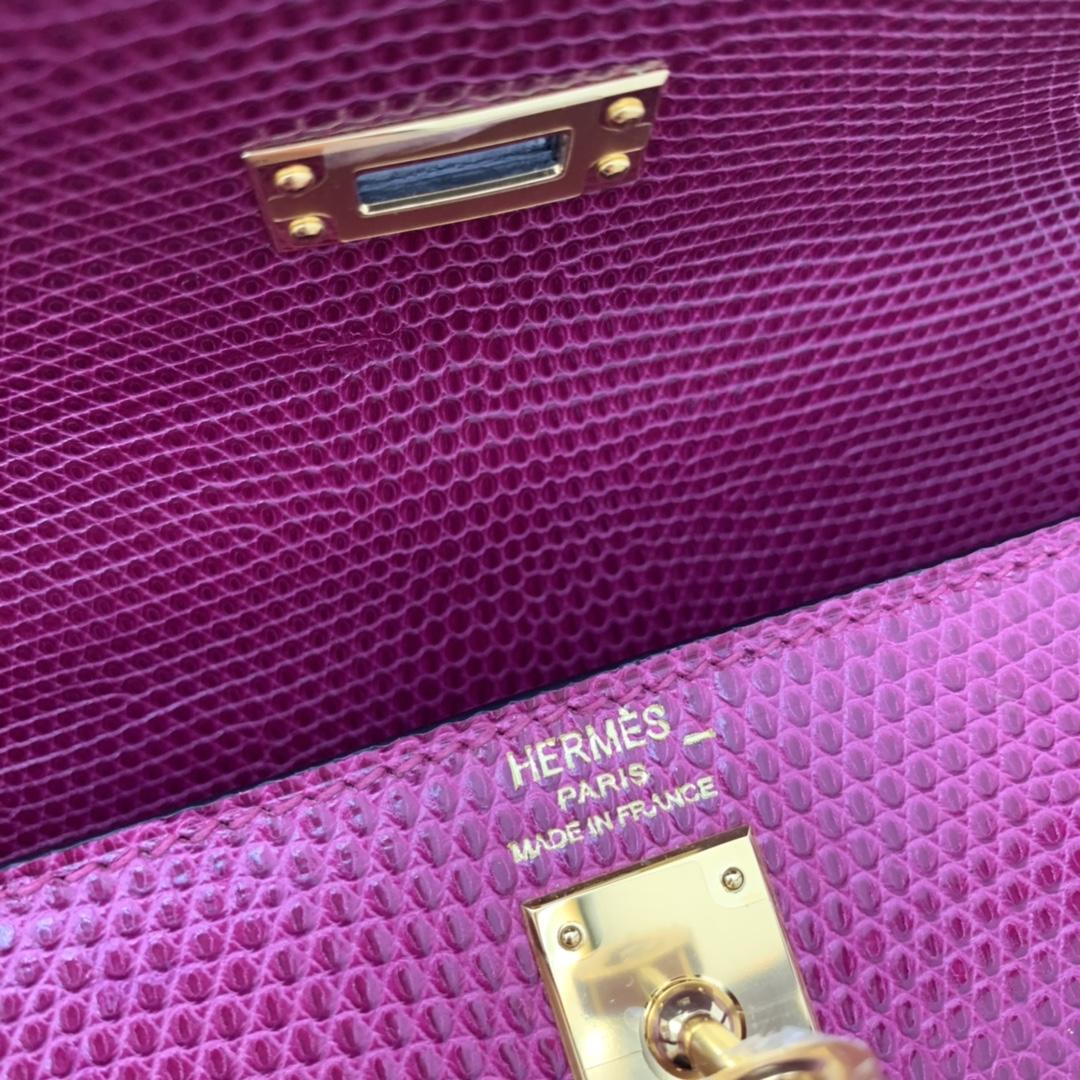爱马仕 现货 kelly 25cm 西班牙牙lizard蜥蜴皮  P9海葵紫  绝美小极品 现货一枚