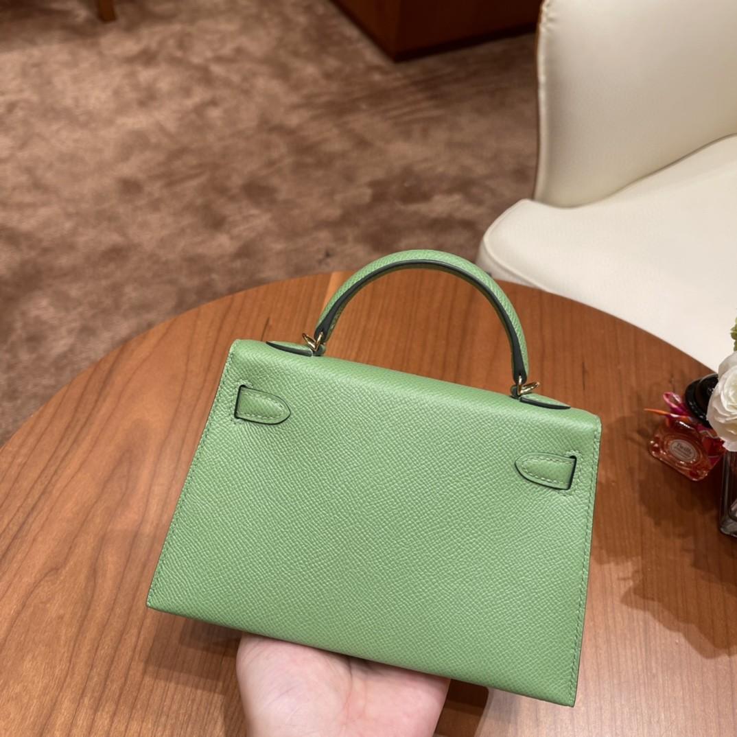 Hermes Mini Kelly 二代 特别精致小巧 热销度 EPSOM 皮 牛油果绿