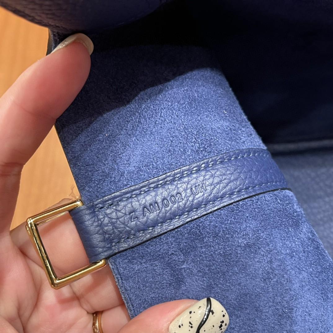HERMES picotin 18cm 超级百搭的菜篮子 入门款实用款,容量大 超级推荐 Tc皮 73 宝石蓝 银扣