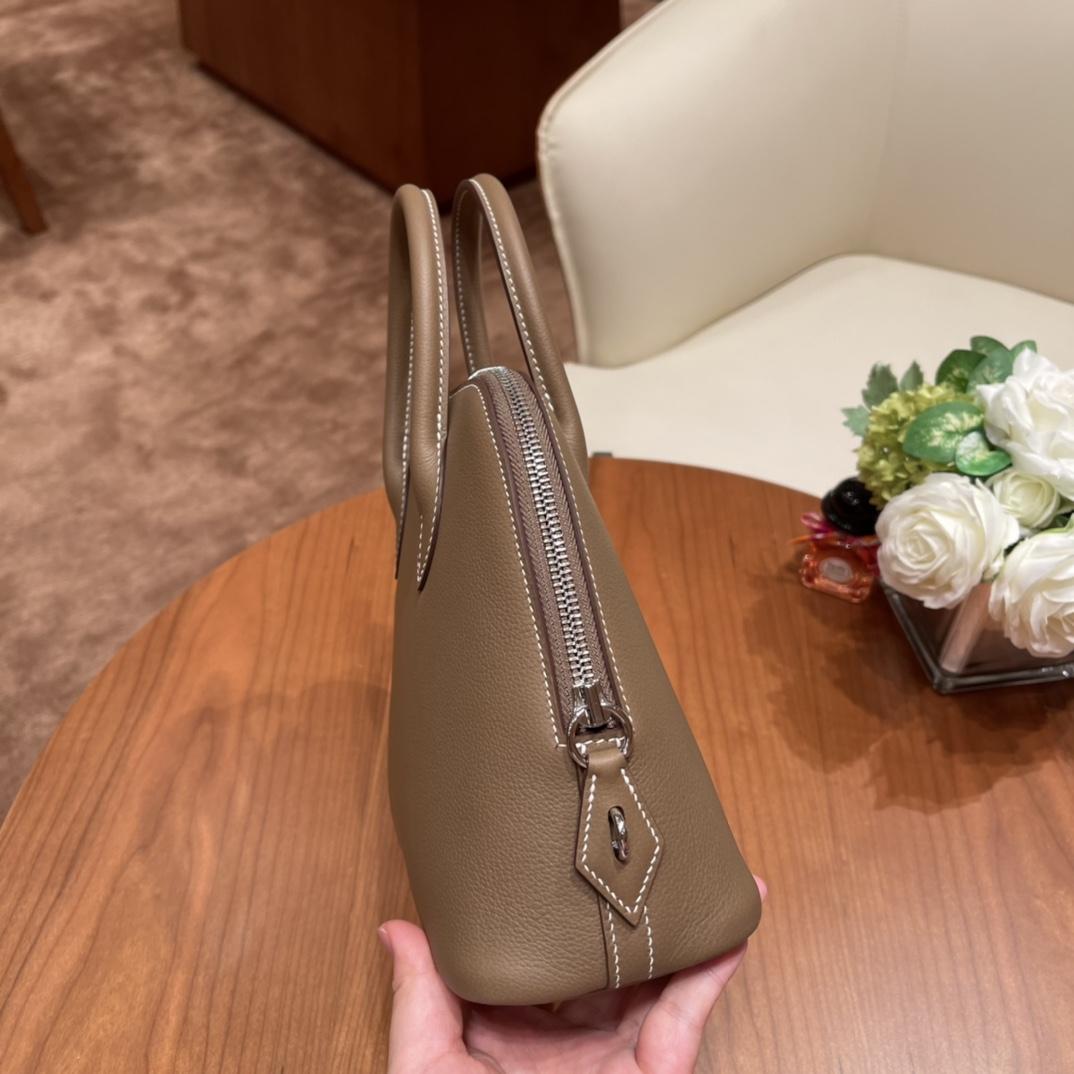 HERMES Bolide 保龄球 25cm 2021 新出尺寸 25cm 实用 Evercolor 18 大象灰 银扣