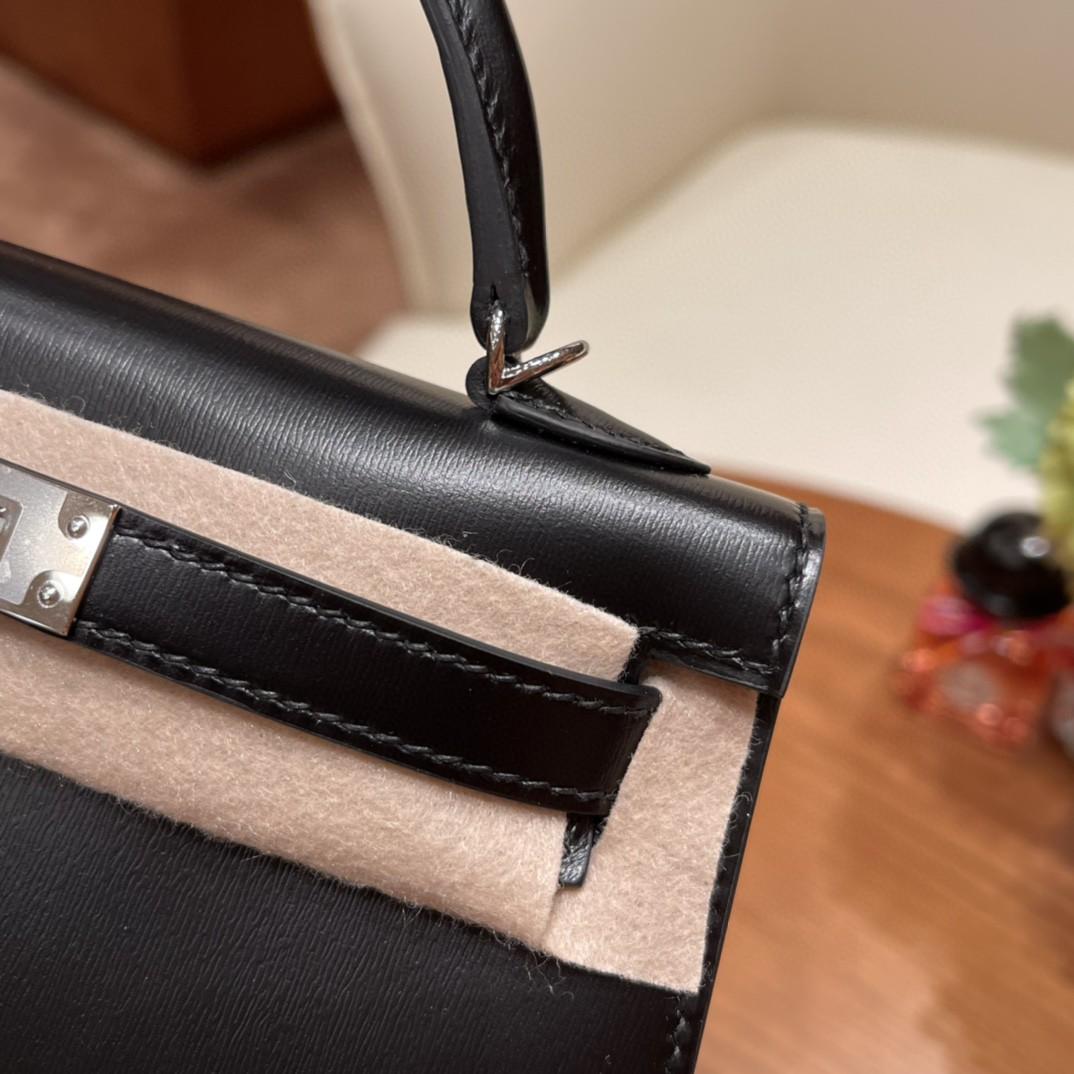 Hermes Newstock Mini Kelly 二代 特别精致小巧,热销度 Box皮普皮中的王者,光泽度绝了 89黑色金银扣