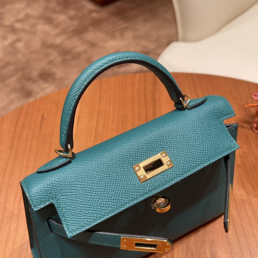 Hermes Mini Kelly 二代 特别精致小巧 热销度 EPSOM 皮 祖母绿