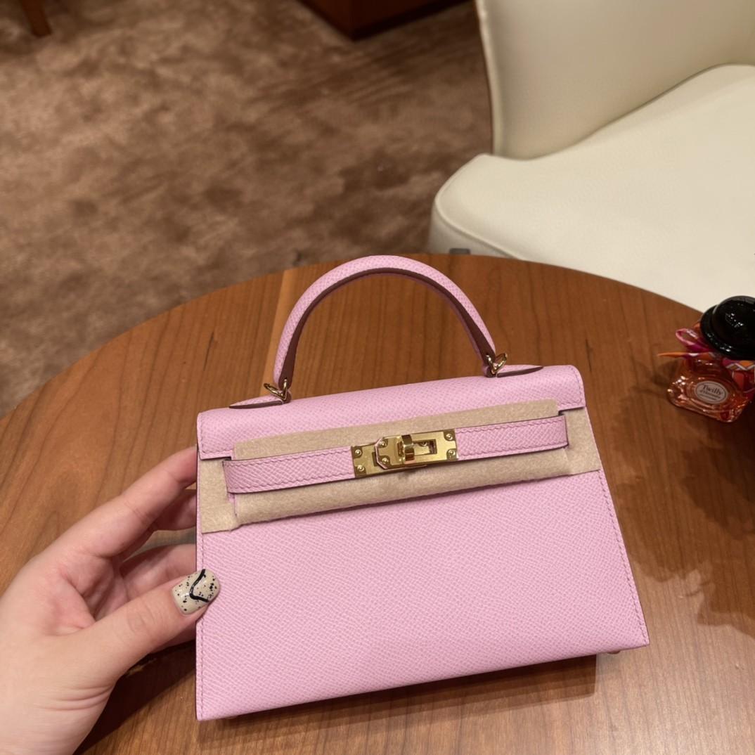 Hermes Mini Kelly 二代 特别精致小巧 热销度 Epsom 皮粉色